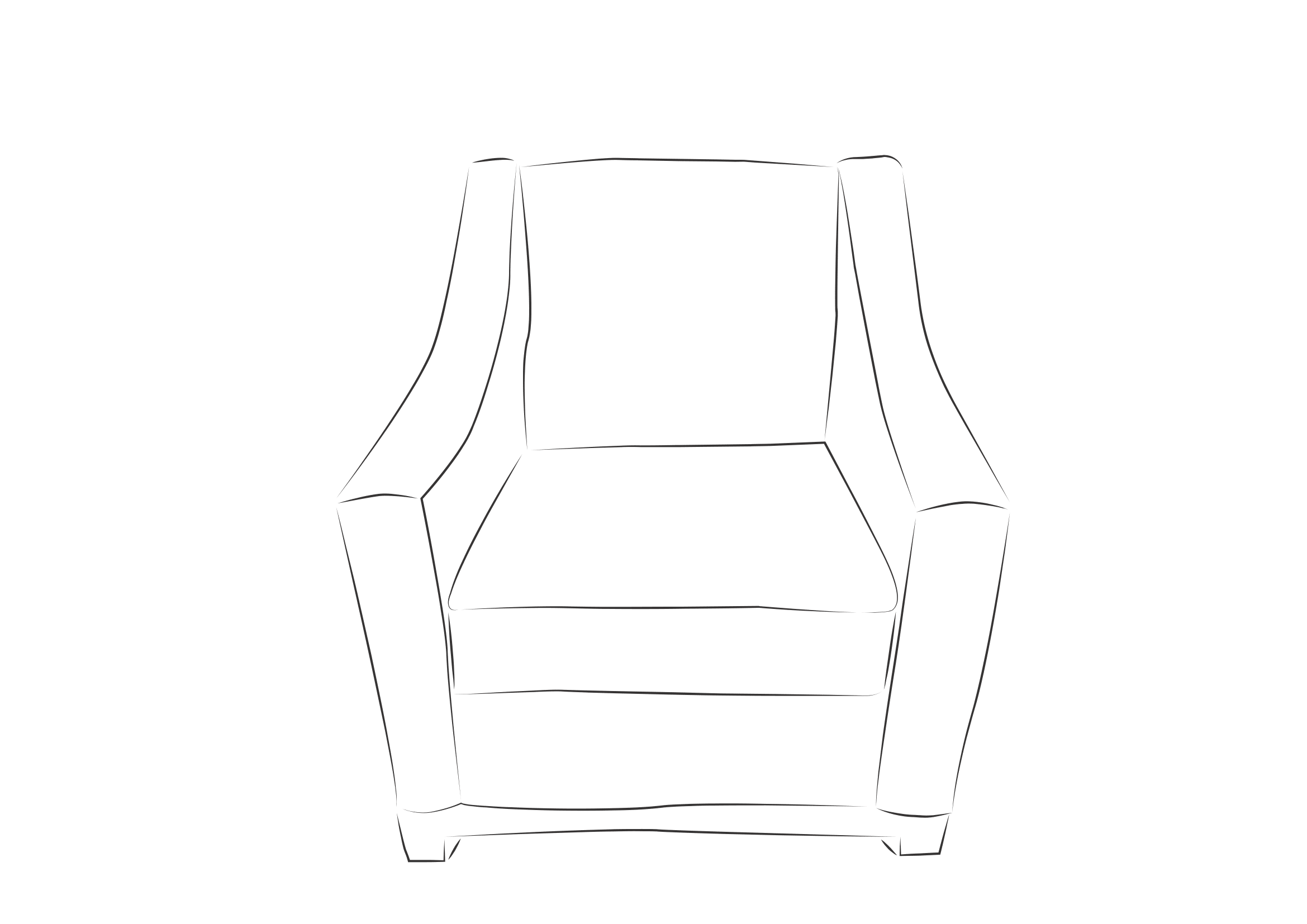 Slope Arm Chair
